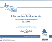 torch awards Sifton Interlake Construction Calgary