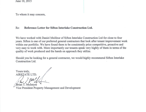 Mannas interior design corp letter of reference sifton airstate ltd letter of reference expocarfo